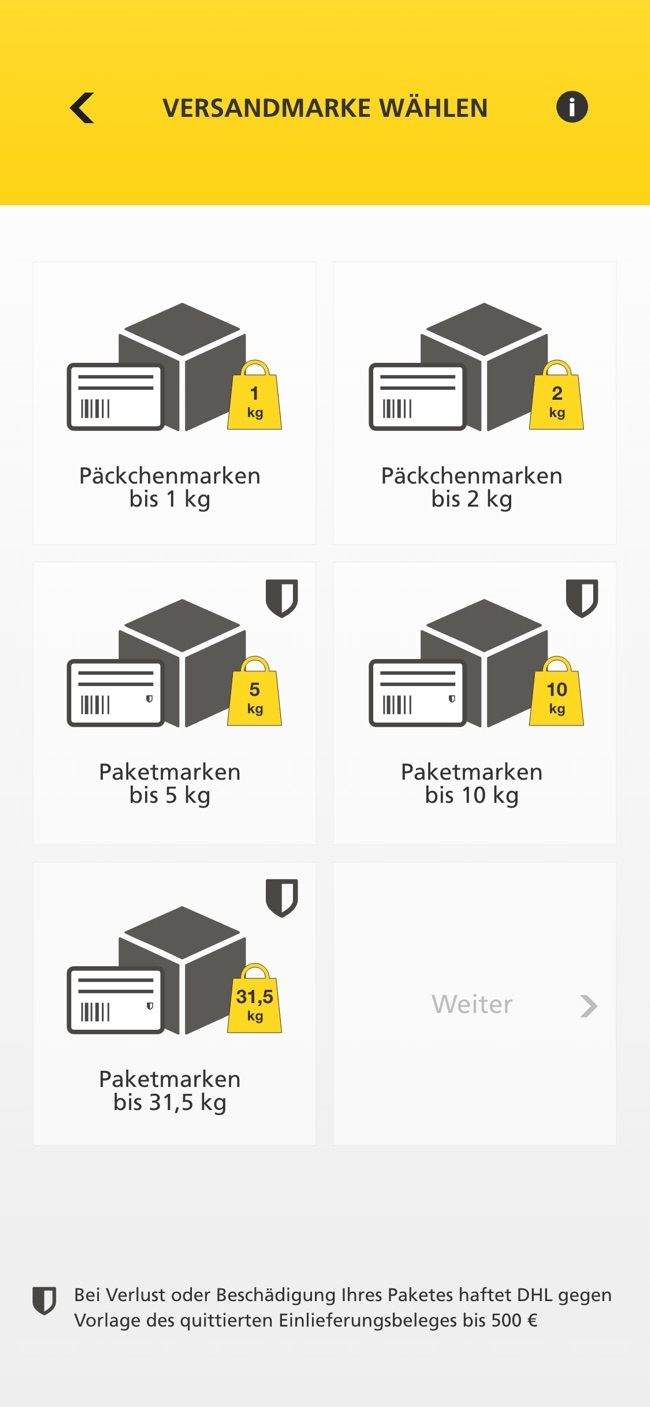 DHL PACKSET Screenshot