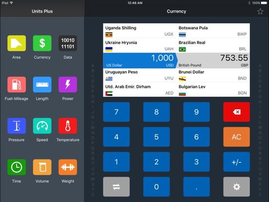 Units Plus Converter Screenshots