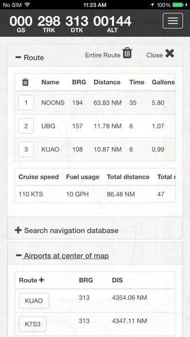 SkyCharts XC EFB Screenshot