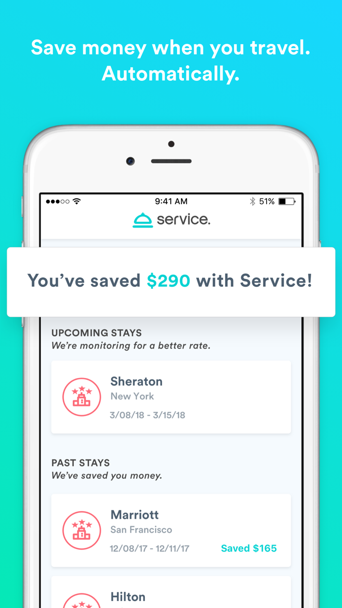 Service: travel and save money Screenshot