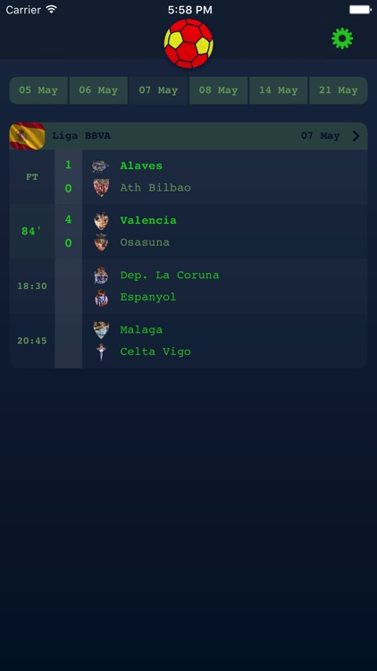 Live Results for Spanish Liga screenshot-0