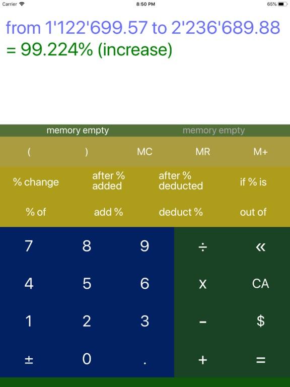 Percentage Calculator 7 Screenshots
