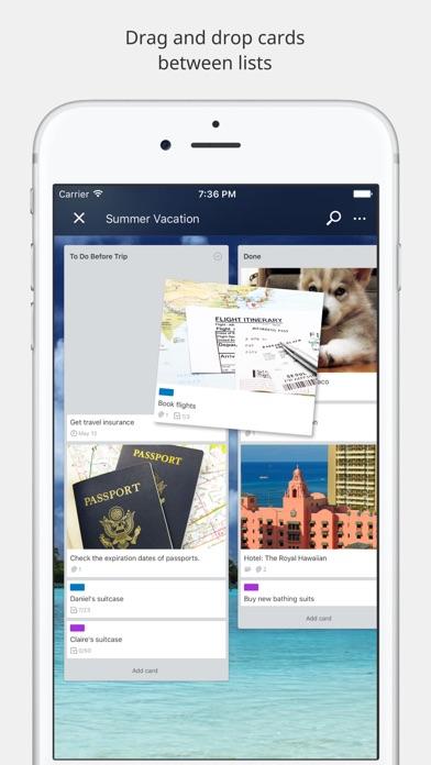 Trello Screenshot on iOS