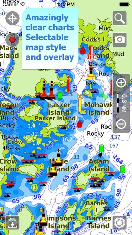 Aqua Map Canada - Nautical GPS screenshot-0