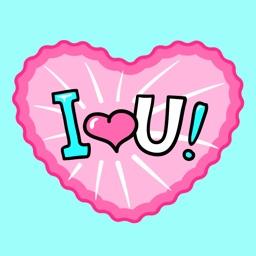 Animated Love & Romantic Heart Stickers