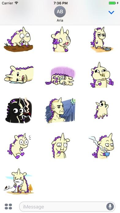 Crazy And Cute Unicorn Sticker screenshot 3