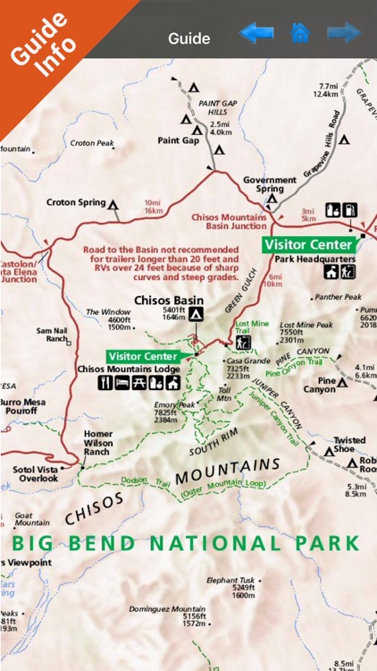 Big Bend National Park GPS outdoor map with guide screenshot-3
