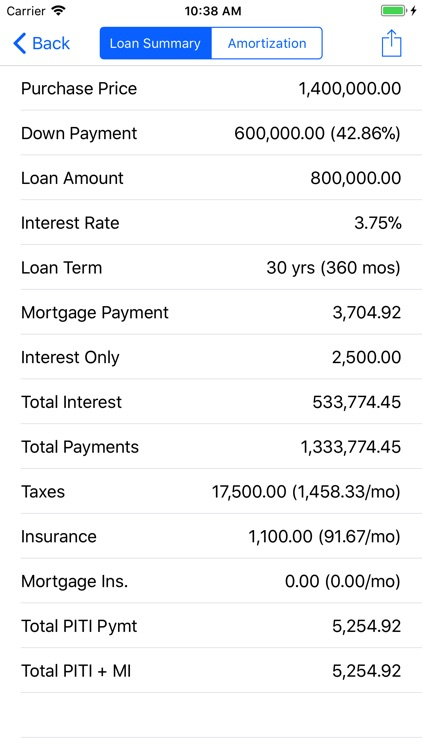 RECalc Mortgage Calculator