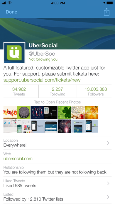 UberSocial Pro for iPhone Screenshots