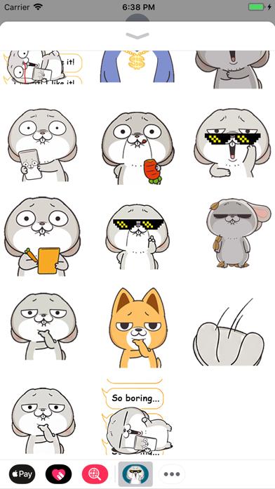 Rabbit Boss Animated Stickers screenshot two
