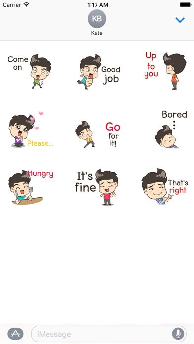 Chat With Happy Boy Sticker screenshot 2