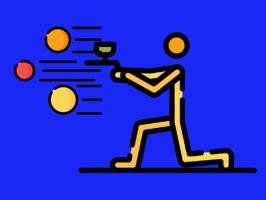 Paintball Battle Emoji