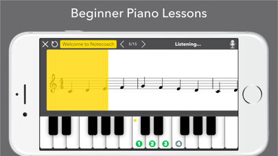 Notecoach Piano Lessons screenshot one