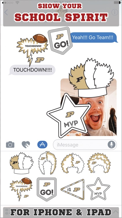 Purdue Boilermakers Stickers for iMessage