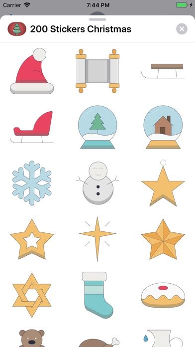 200+ Christmas Stickers screenshot 4