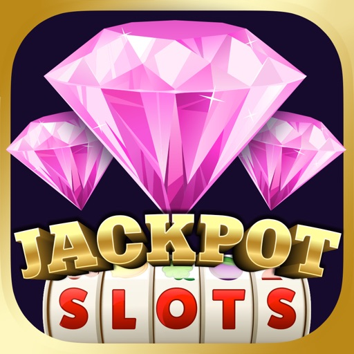 3 Pink Jackpot Diamonds Slots iOS App