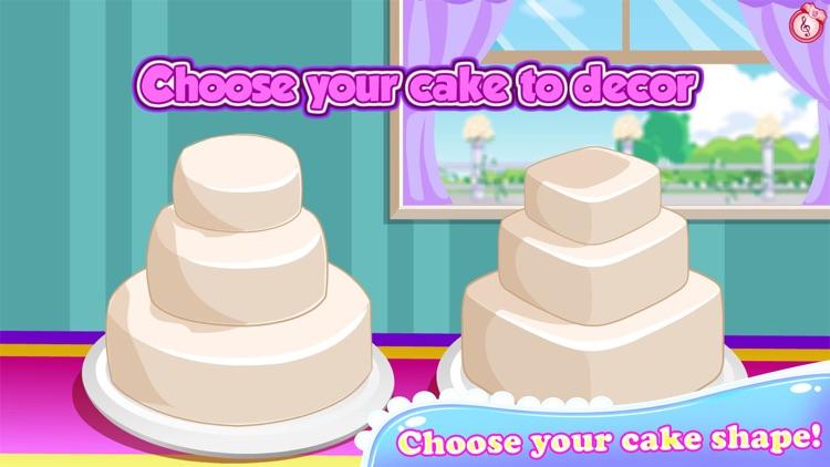 Rose Wedding Cake Cooking Game screenshot-4