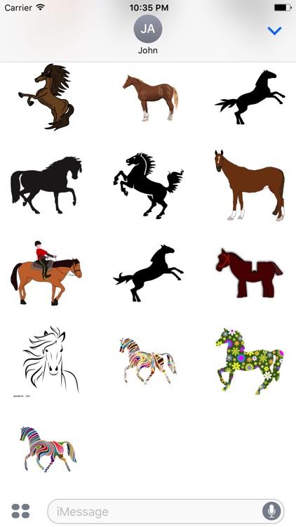 Majestic Horse Stickers screenshot-3