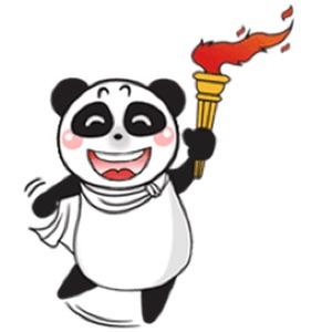 Cute Panda Love Sport Sticker