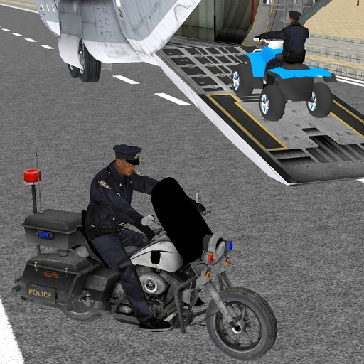 Police Bike Plane Transport & Offroad Driving