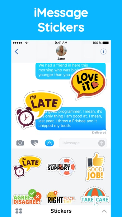 Fun Text Stickers for iMessage screenshot two