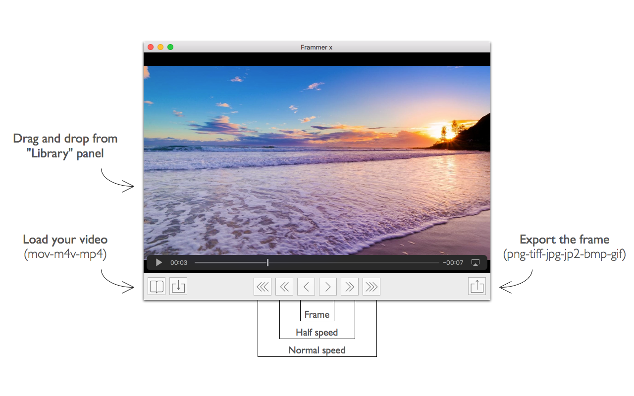 Frammer X 1.6 – Extract your favorite frames from a video.   macOS ...