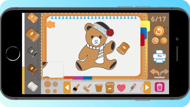 Teddy Bear Coloring Book screenshot-4