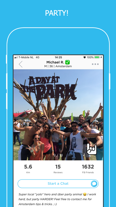PartyWith - Locals & Travelers app image