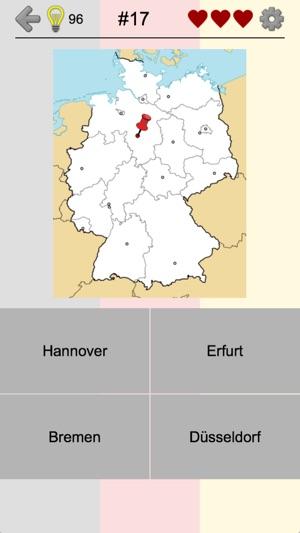 Bundesländer Hauptstädte Karte.Bundesländer In Deutschland Im App Store