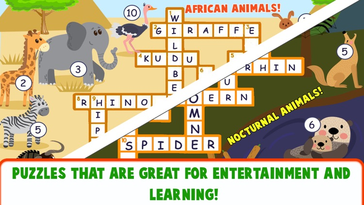 Educational Crossword For Kids