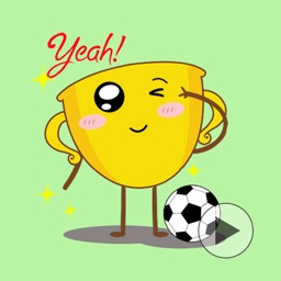 Cuties CupCup - Animation Football Emoji GIF
