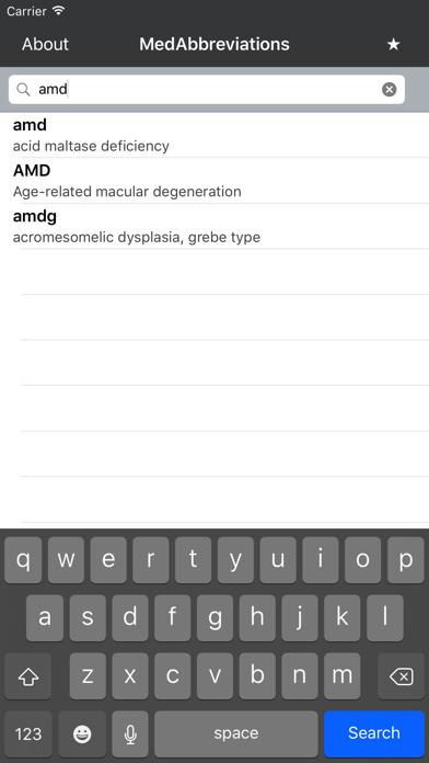 Screenshot #2 pour MedAbbreviations