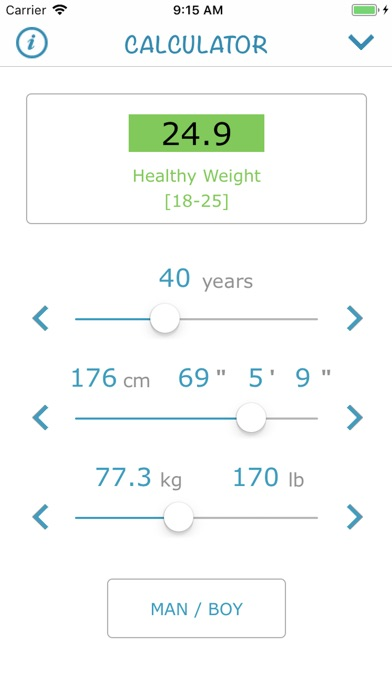 Screenshot for Body Mass Index 2018 (AIMapps) in China App Store