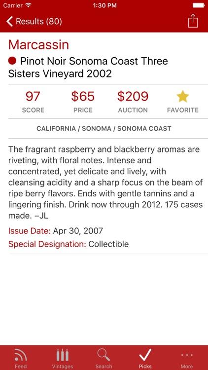 WineRatings+ by Wine Spectator screenshot-3