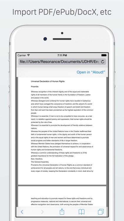 Aloud! - Text to speech screenshot-3