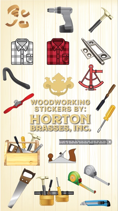 Woodworking stickers by Horton screenshot one