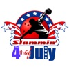 Bowling 4th of July Stickers