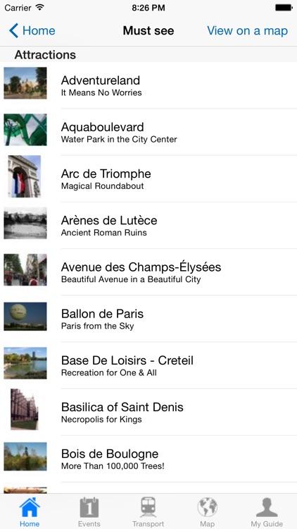 Paris Travel Guide Offline screenshot-3