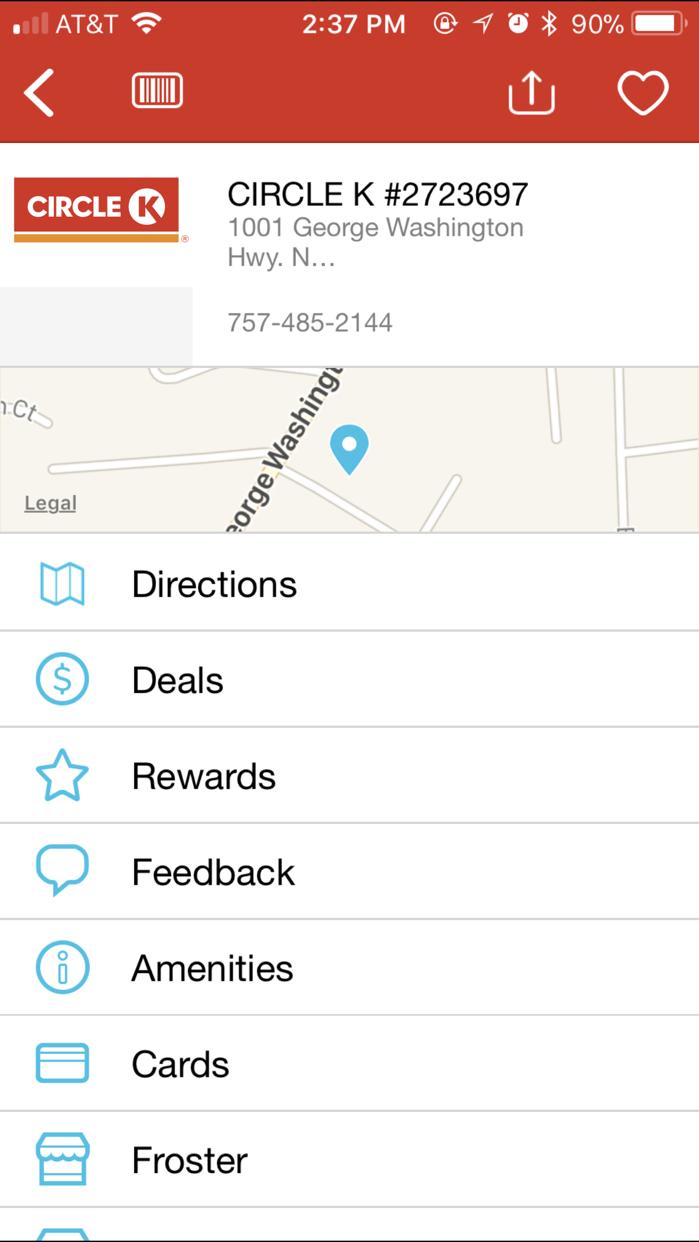 CIRCLE K Rewards Screenshot