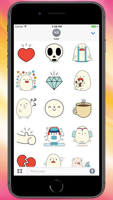 Screenshot for Cutie Blobby Stickers in Colombia App Store