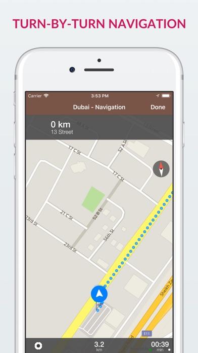Screenshot for Dubai Offline Map & Guide in Azerbaijan App Store