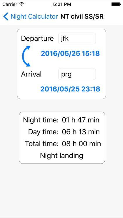 Flight night time