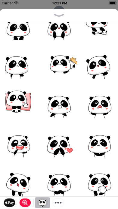 Panda Bear Animated Stickers screenshot two