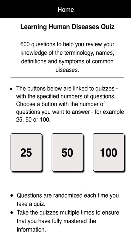Learning Human Diseases Quiz