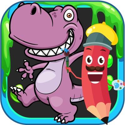 Cute Dinosaur Coloring Book ios app