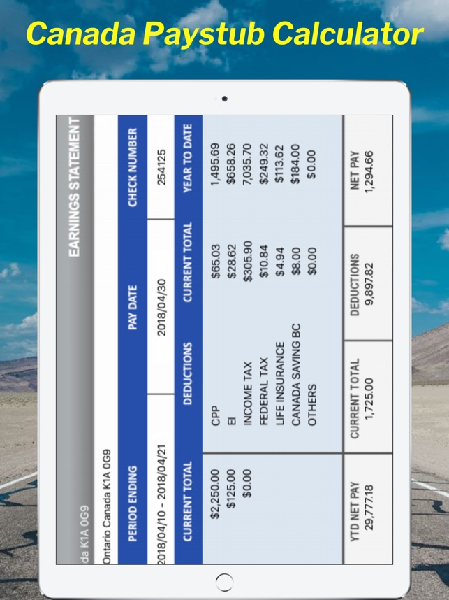 canada paystub calculator on the app store