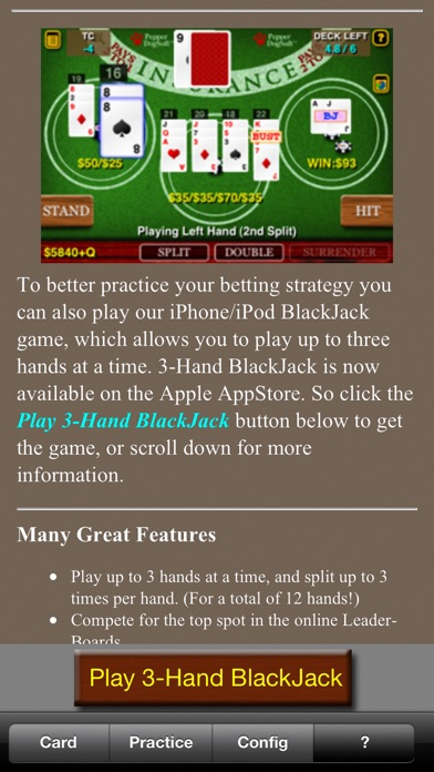 Blackjack Teacher review screenshots