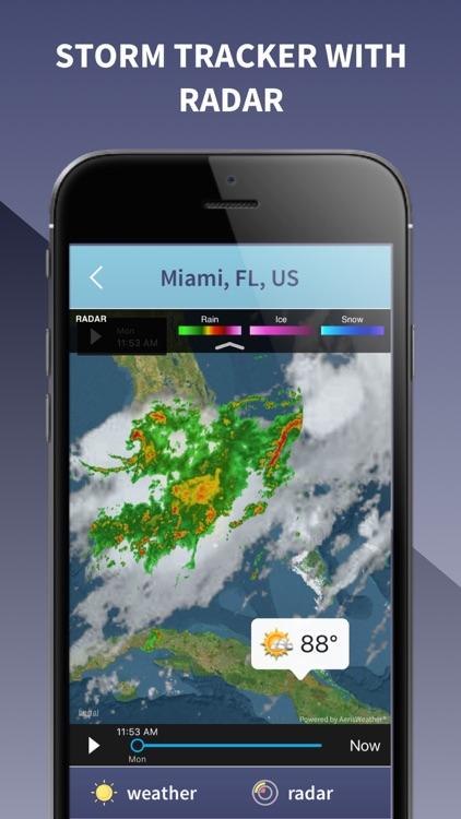 Weather Radar Live - Forecast, NOAA Map & Alarm