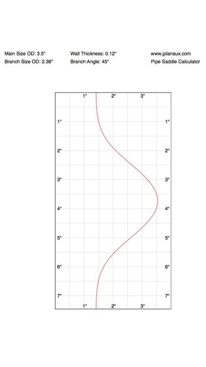 Pipe Saddle Layout Calculator screenshot-4