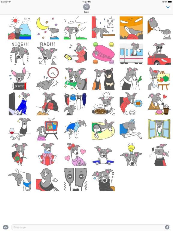 My Italian Greyhound Dog Emoji screenshot 4